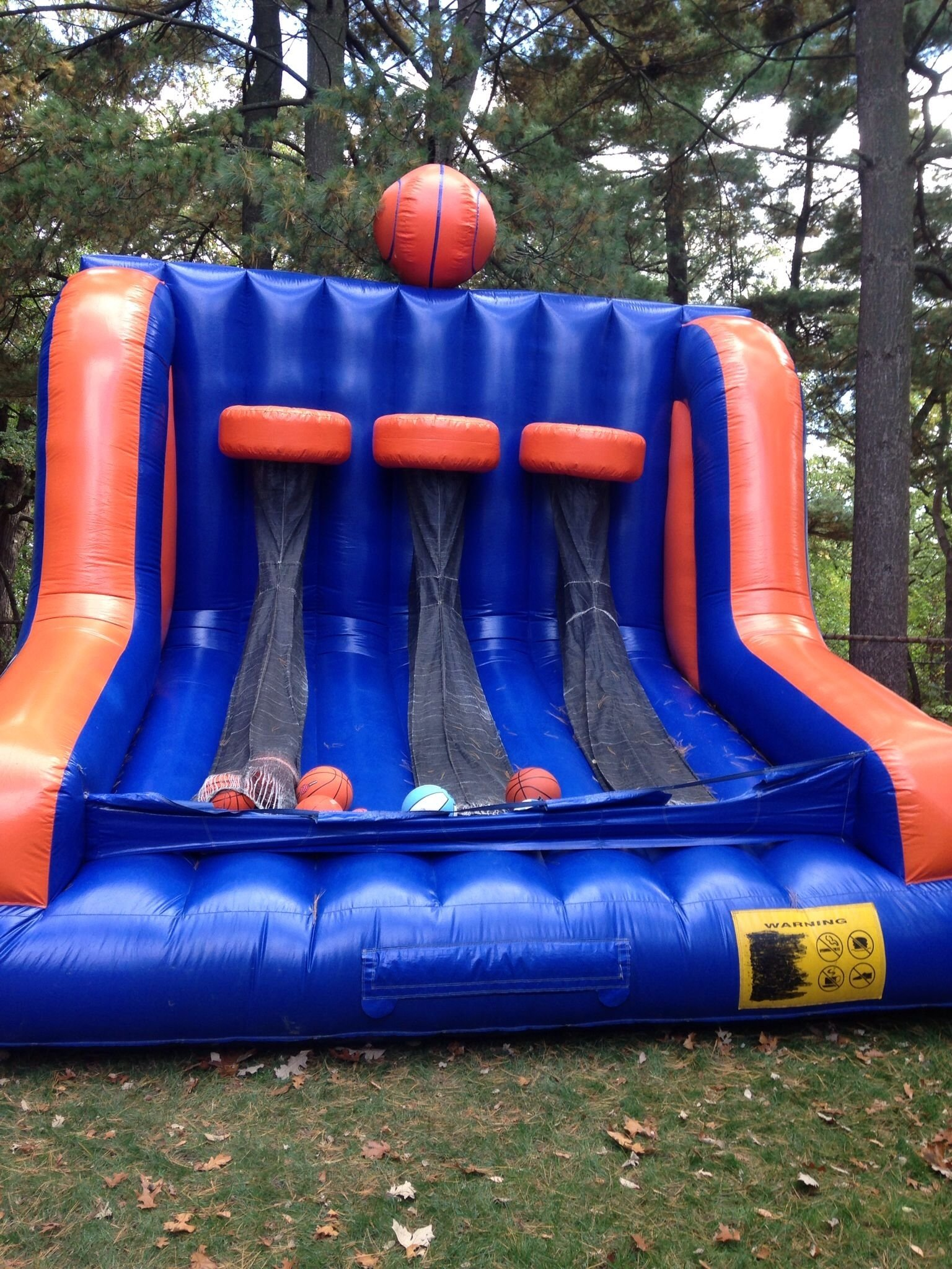 10 Fashionable Bounce House Birthday Party Ideas triple shot basketball bounce house basketball theme birthday bash 2021