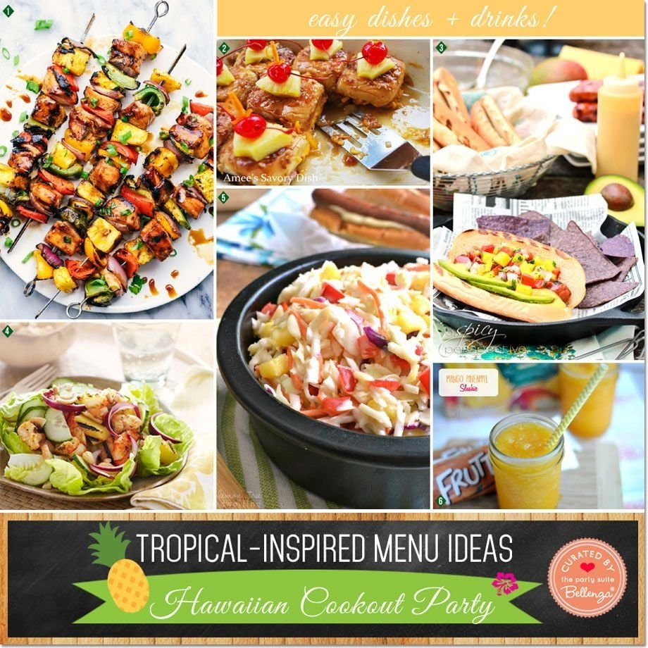 10 Nice Hawaiian Food Ideas For Parties tropical inspired menu ideas for a hawaiian cookout party party 2021