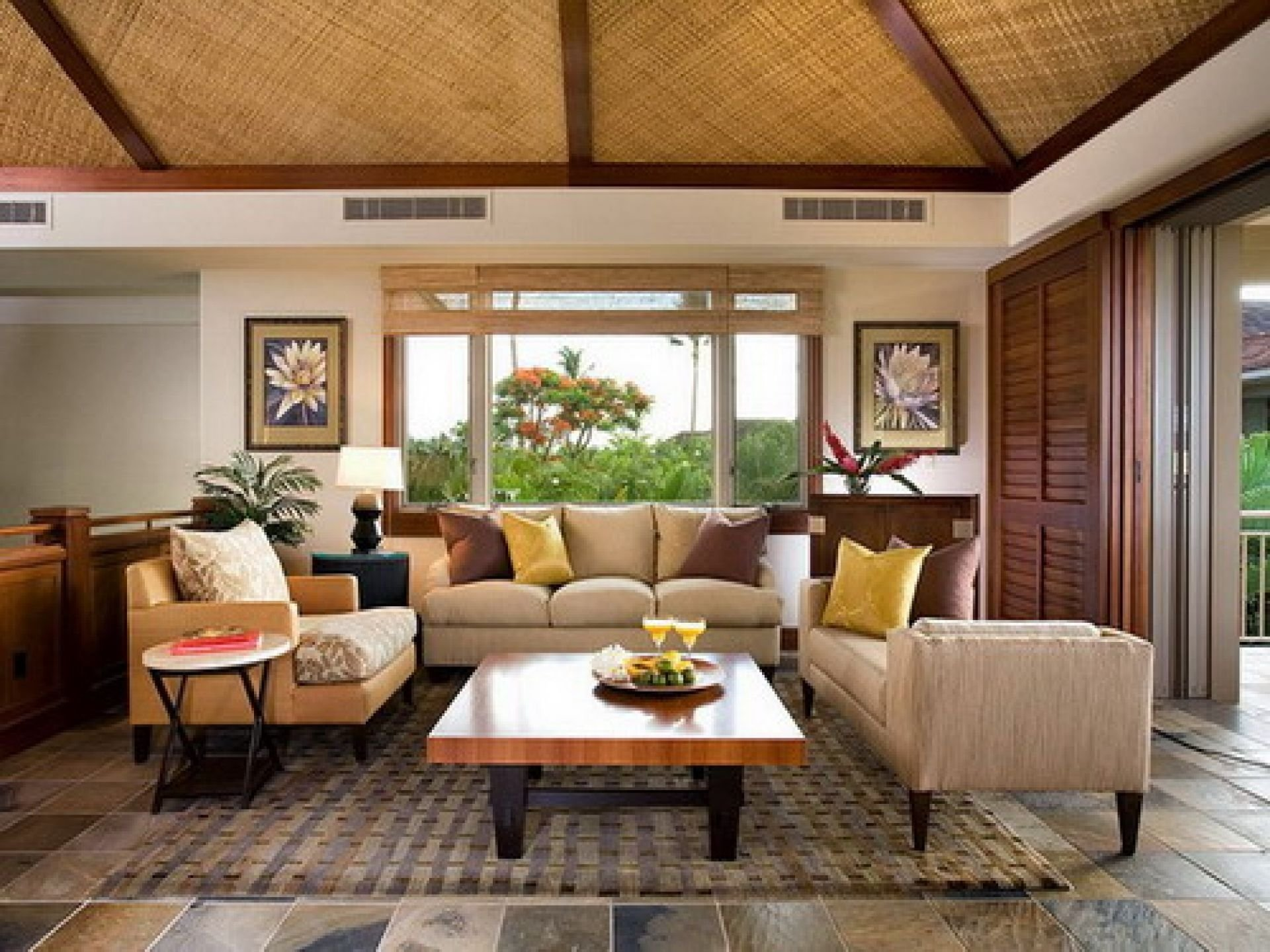 tropical interior design: 1920x1440 elegant tropical style living