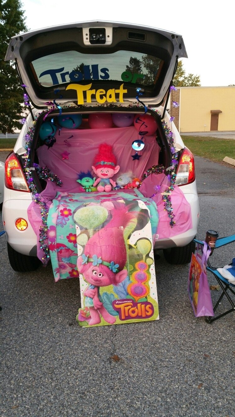 trunk or treat. trolls themed | trunk or treat | pinterest
