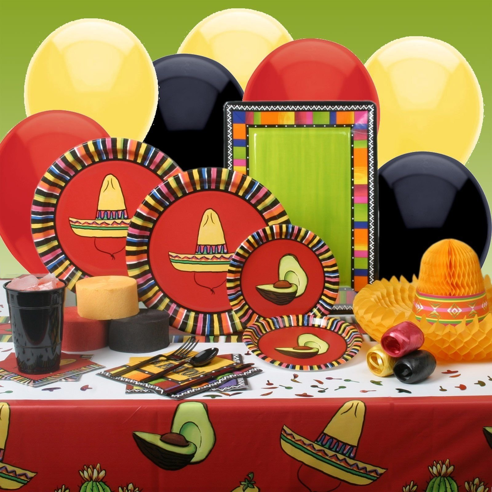 10 Perfect Cinco De Mayo Celebration Ideas try these bold color balloons and plates for your cinco de mayo 2020