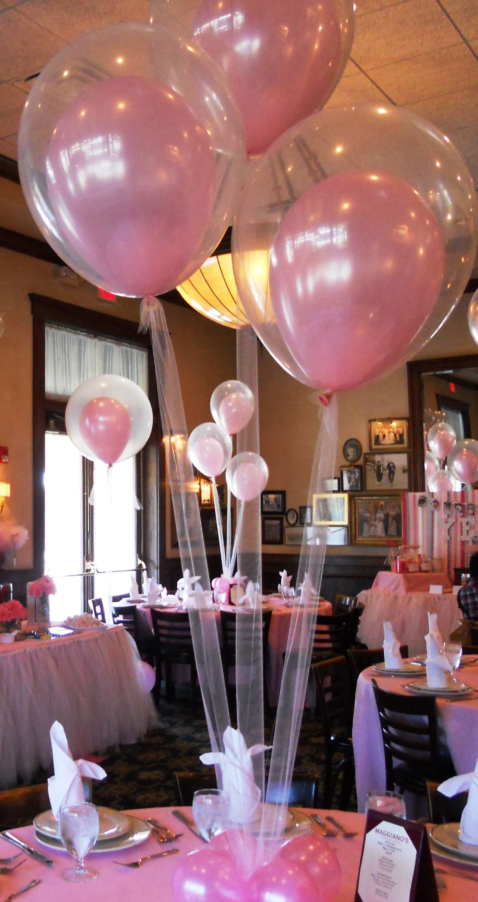 10 Amazing Sweet 16 Ideas No Party tulle instead of string for a party balloonslove this idea for a 1 2020