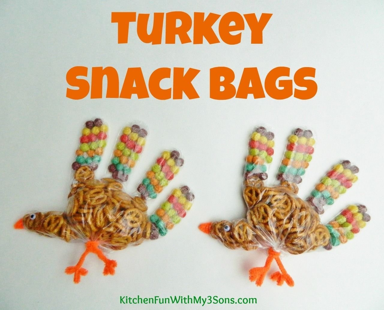 10 Ideal Thanksgiving Snack Ideas For Kids turkey snack bagsperfect for thanksgiving class parties at school
