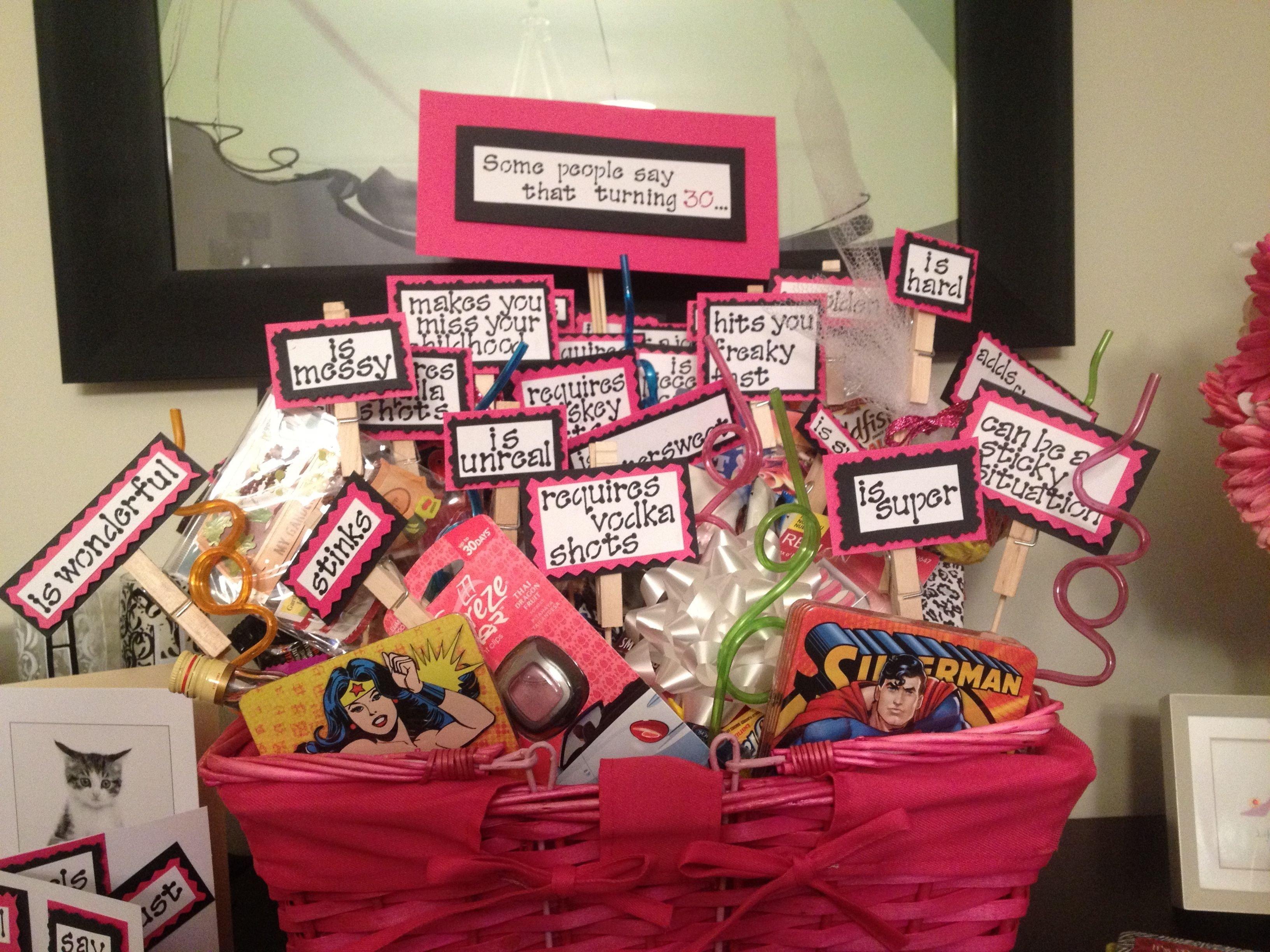 10 Fashionable Creative 30Th Birthday Gift Ideas For Her turning 30 birthday basket basket ideas 30 birthday and dear friend 2 2020