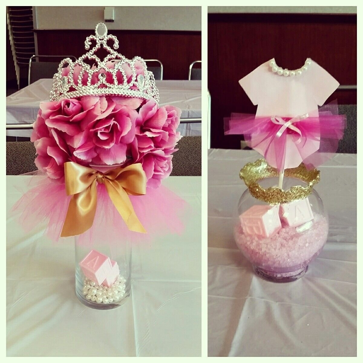 10 Attractive Girl Baby Shower Decoration Ideas tutus tiaras baby shower centerpieces pinkandgold my diy 2 2020