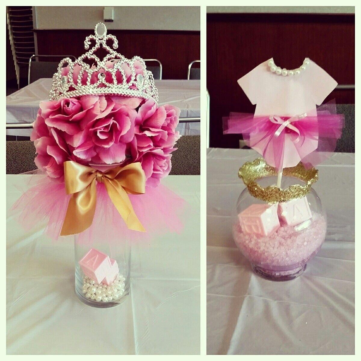 tutus & tiaras baby shower #centerpieces #pinkandgold | my diy