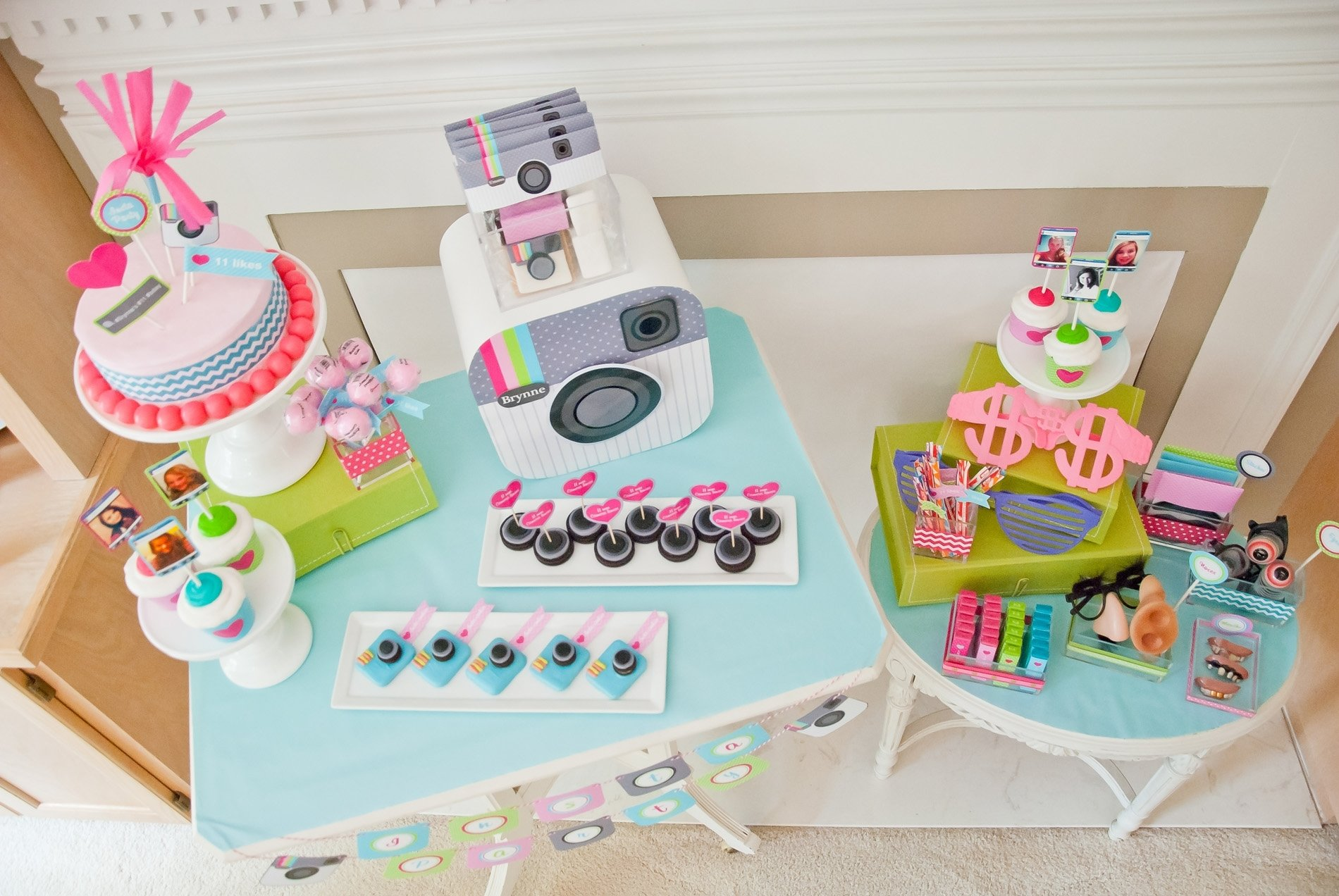 10 Beautiful Birthday Ideas For Teenage Girls tween teen insta party instragram birthday party anders ruff 10