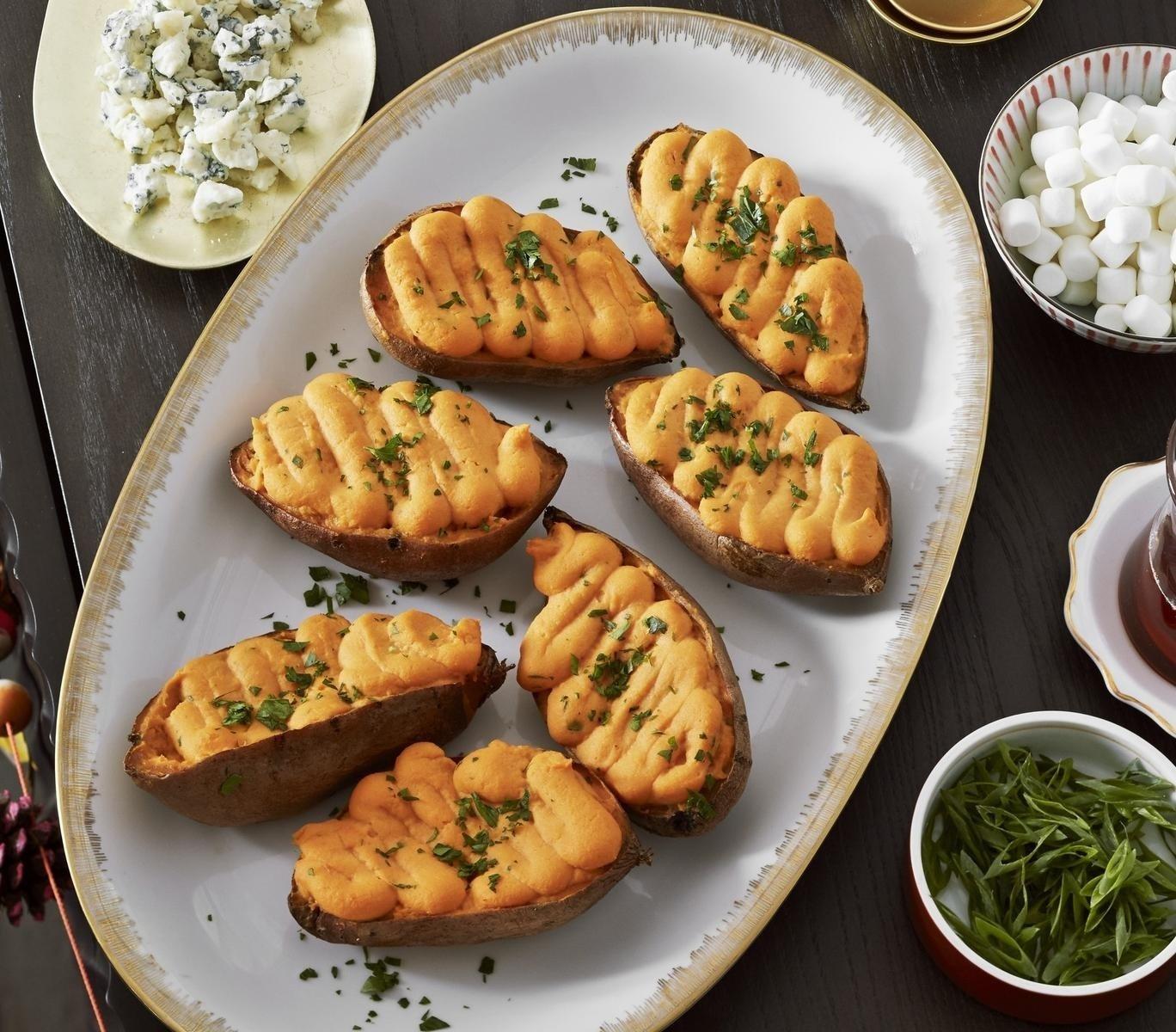 10 Unique Fun Dinner Ideas For Kids twice baked sweet potato bar parents 2020
