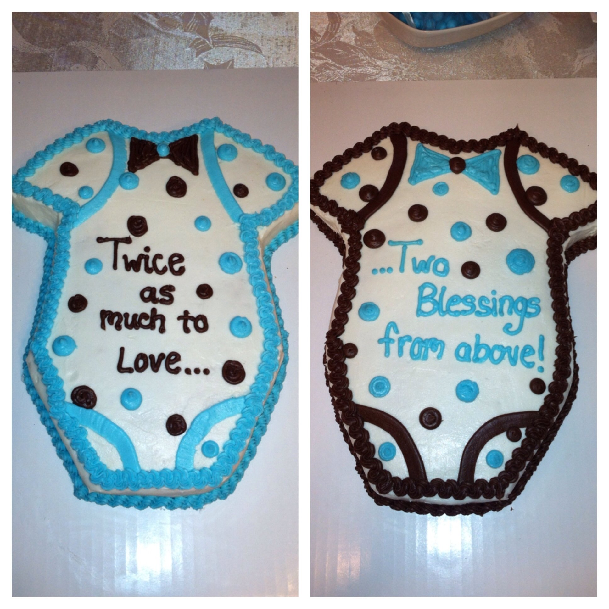 twin baby boy shower cakes | personal pinterest successes