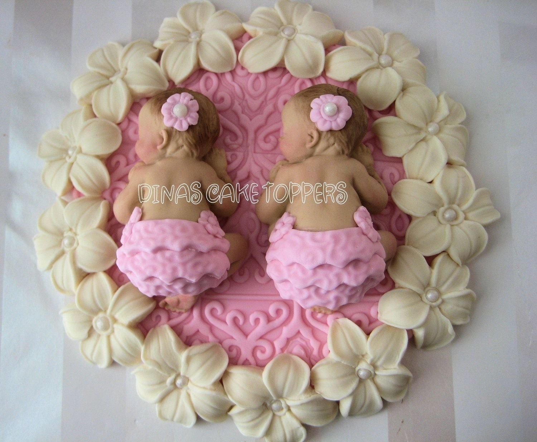 10 Fantastic Twin Girl Baby Shower Ideas twin shower cake ideas twin girls pink baby shower first birthday 2020