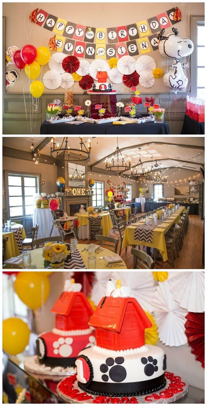 10 Lovable Twins First Birthday Party Ideas twins birthday party ideas for boy girl twins 1