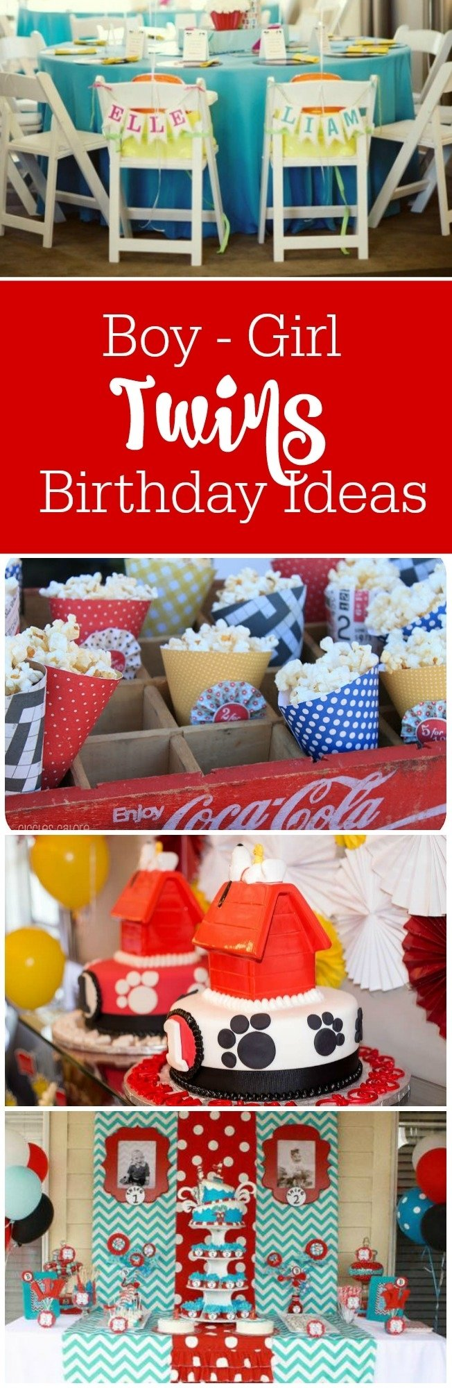 10 Lovely Boy And Girl Birthday Party Ideas twins birthday party ideas for boy girl twins 3