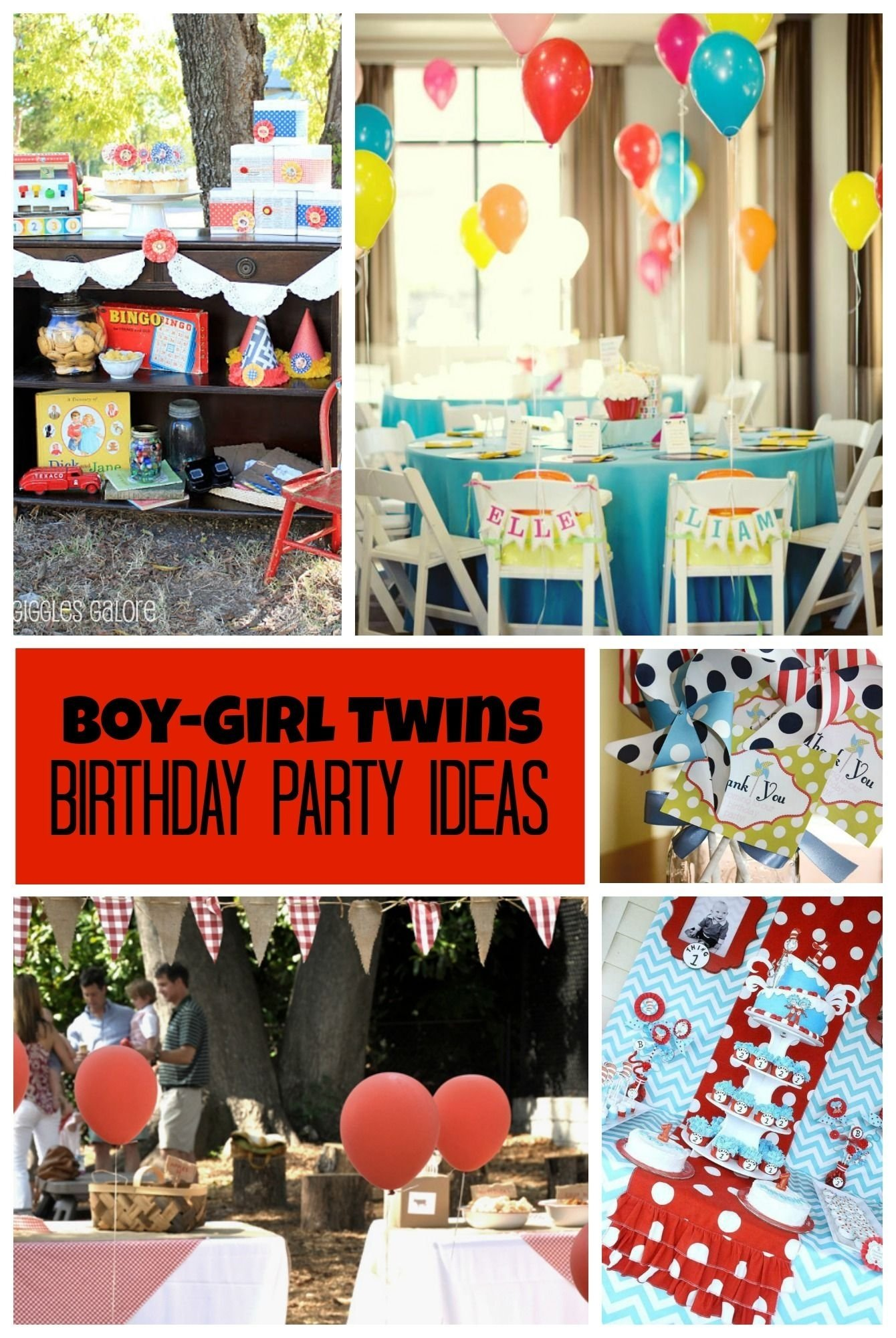 twins: birthday party ideas for boy girl twins | twin birthday
