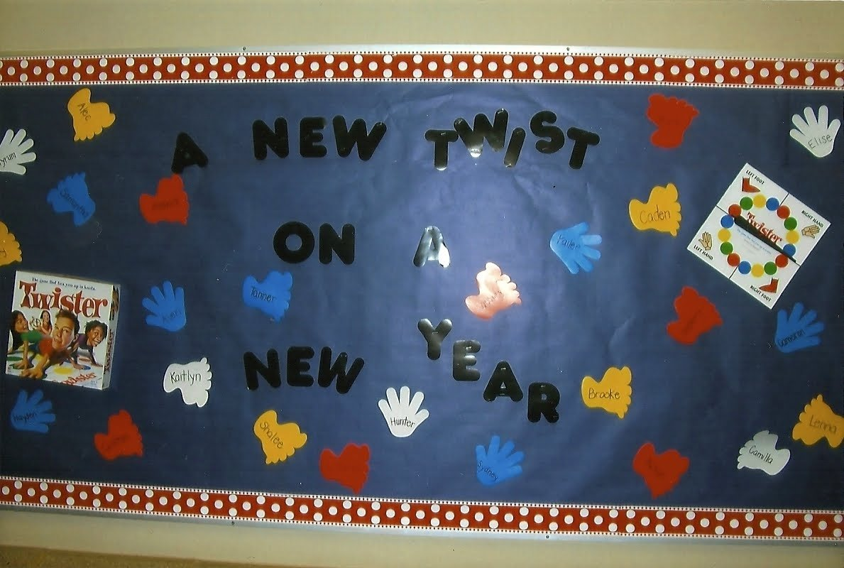 twist on a new year bulletin board idea - myclassroomideas