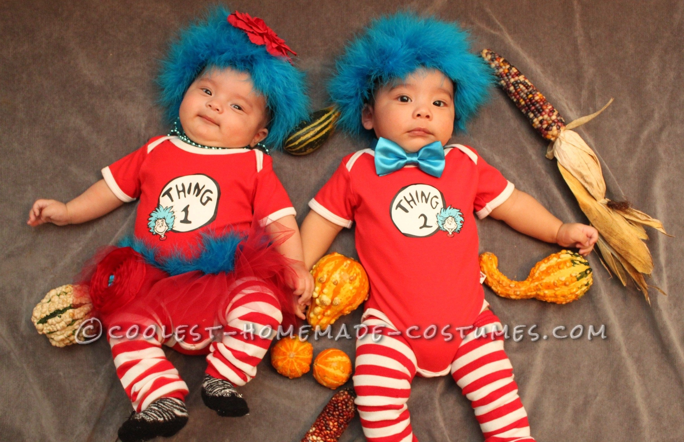 10 Unique Thing 1 And Thing 2 Costume Ideas two amazing homemade infant twin costumes for under 30 twin 1 and 2021
