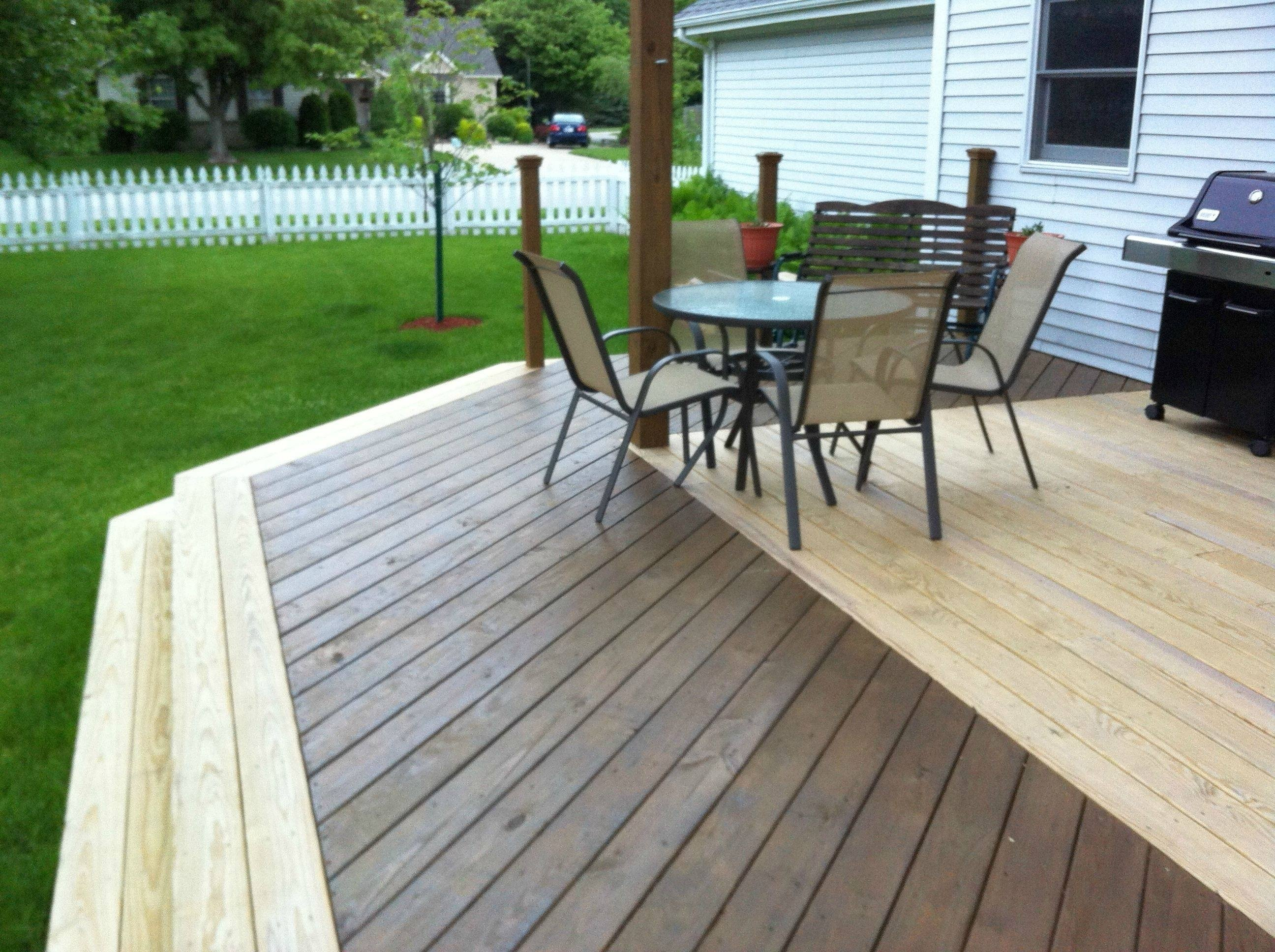 10 Spectacular Two Tone Deck Stain Ideas two tone deck stain ideas id like your opinion diy two tone or 2021