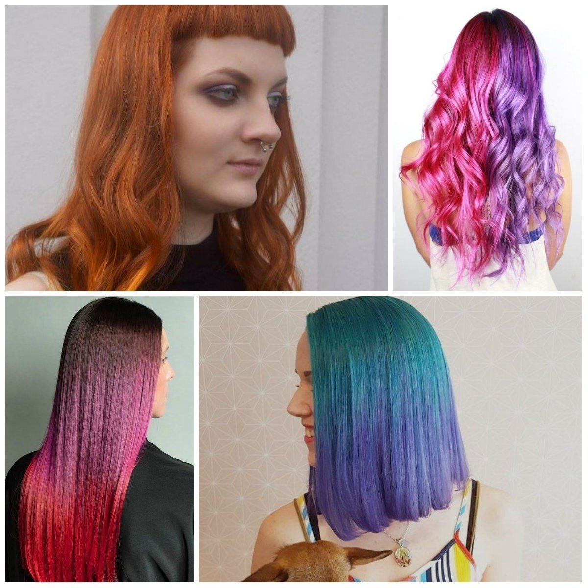 10 Perfect Two Toned Hair Color Ideas