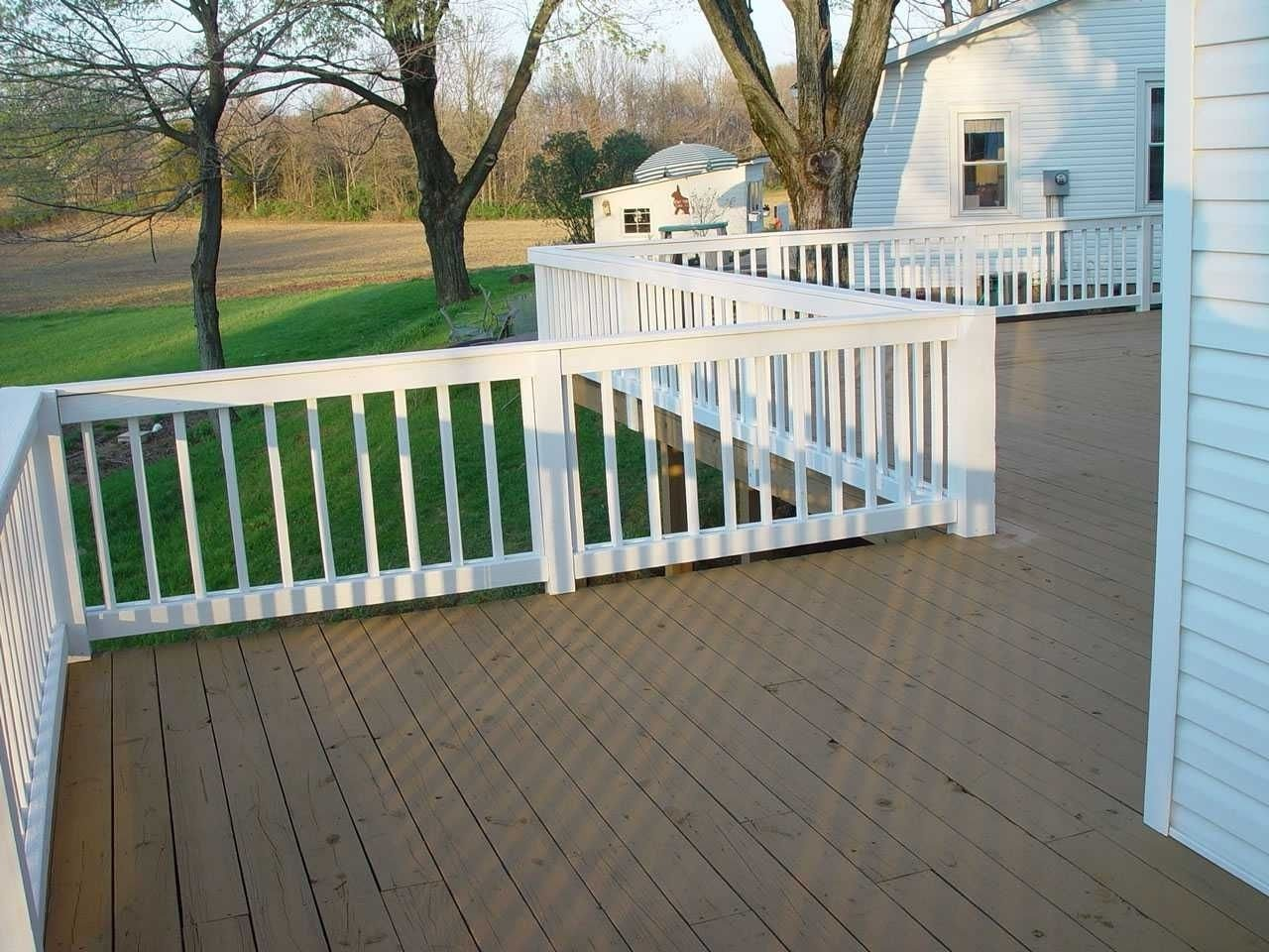 10 Spectacular Two Tone Deck Stain Ideas two tone porch and a semi on the floor the background picture 2021