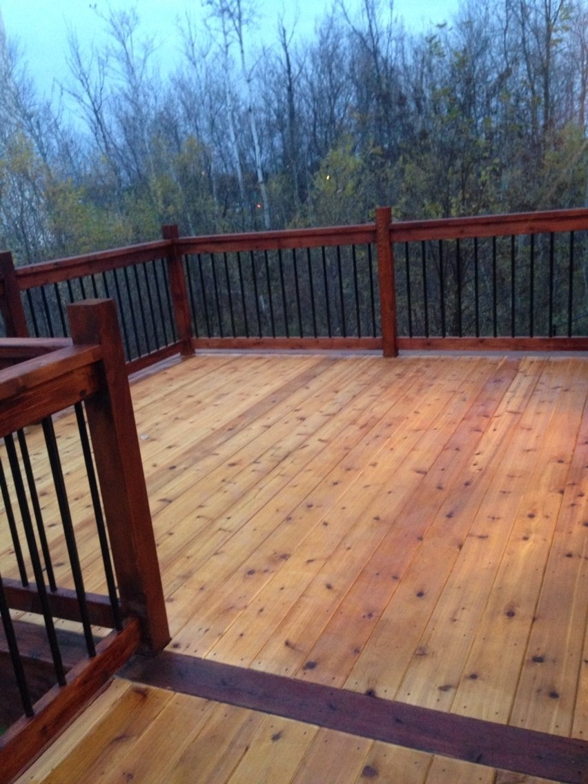 10 Spectacular Two Tone Deck Stain Ideas two tone stain on our deck turned out nice outdoor living 2021