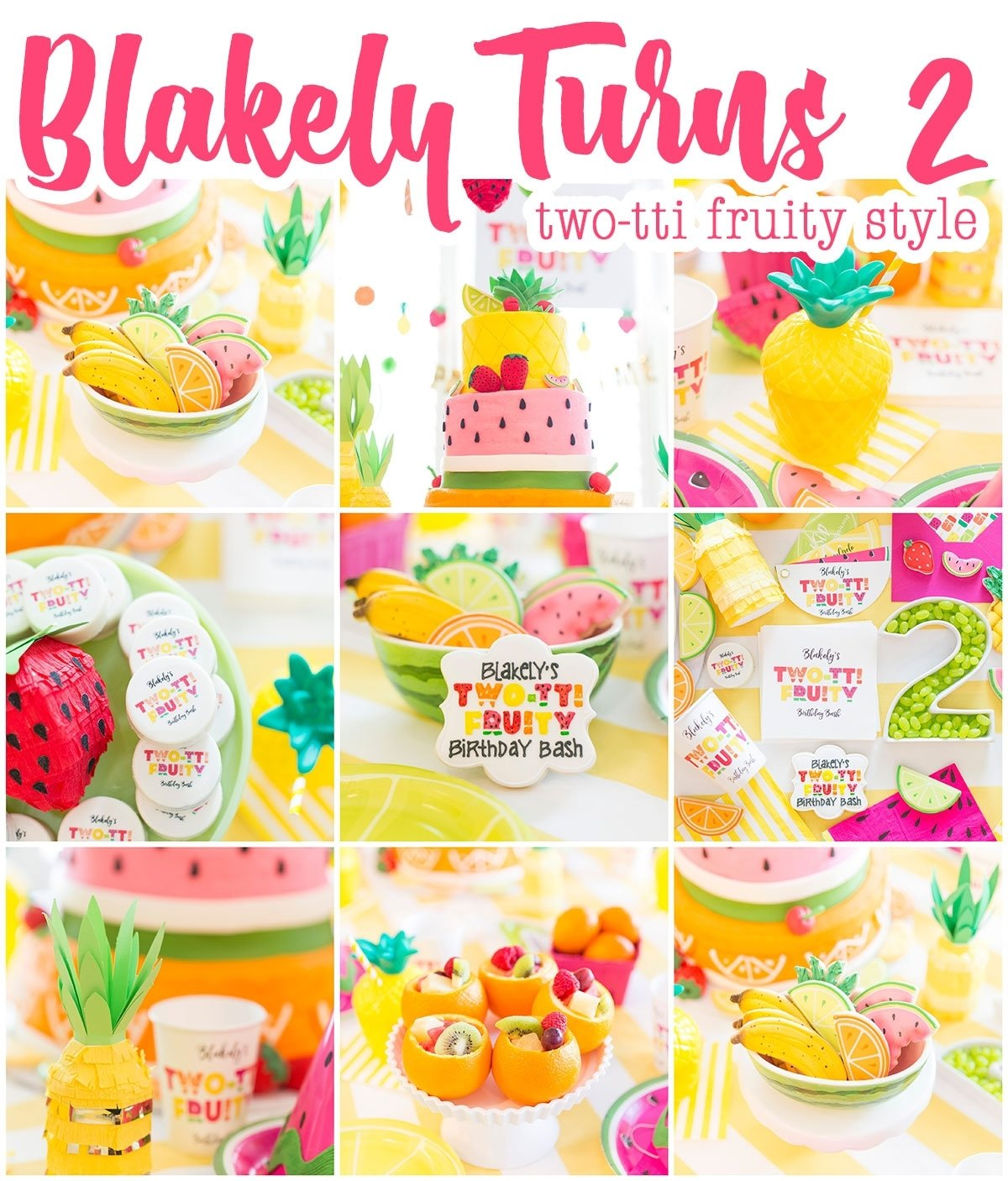 10 Wonderful Ideas For 2Nd Birthday Party two tti fruity birthday party blakely turns 2 pizzazzerie 9