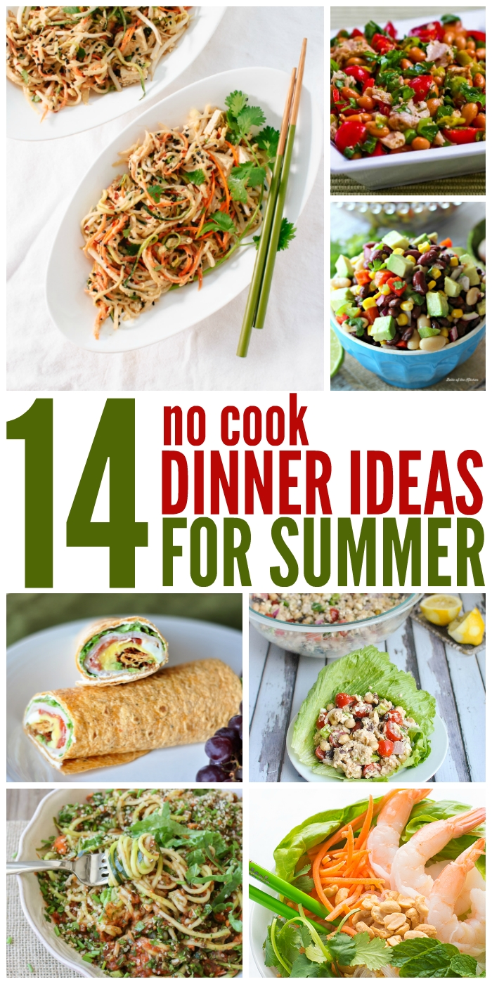 10 Fashionable Ideas For Dinner For Two two weeks of no cook dinner ideas 1