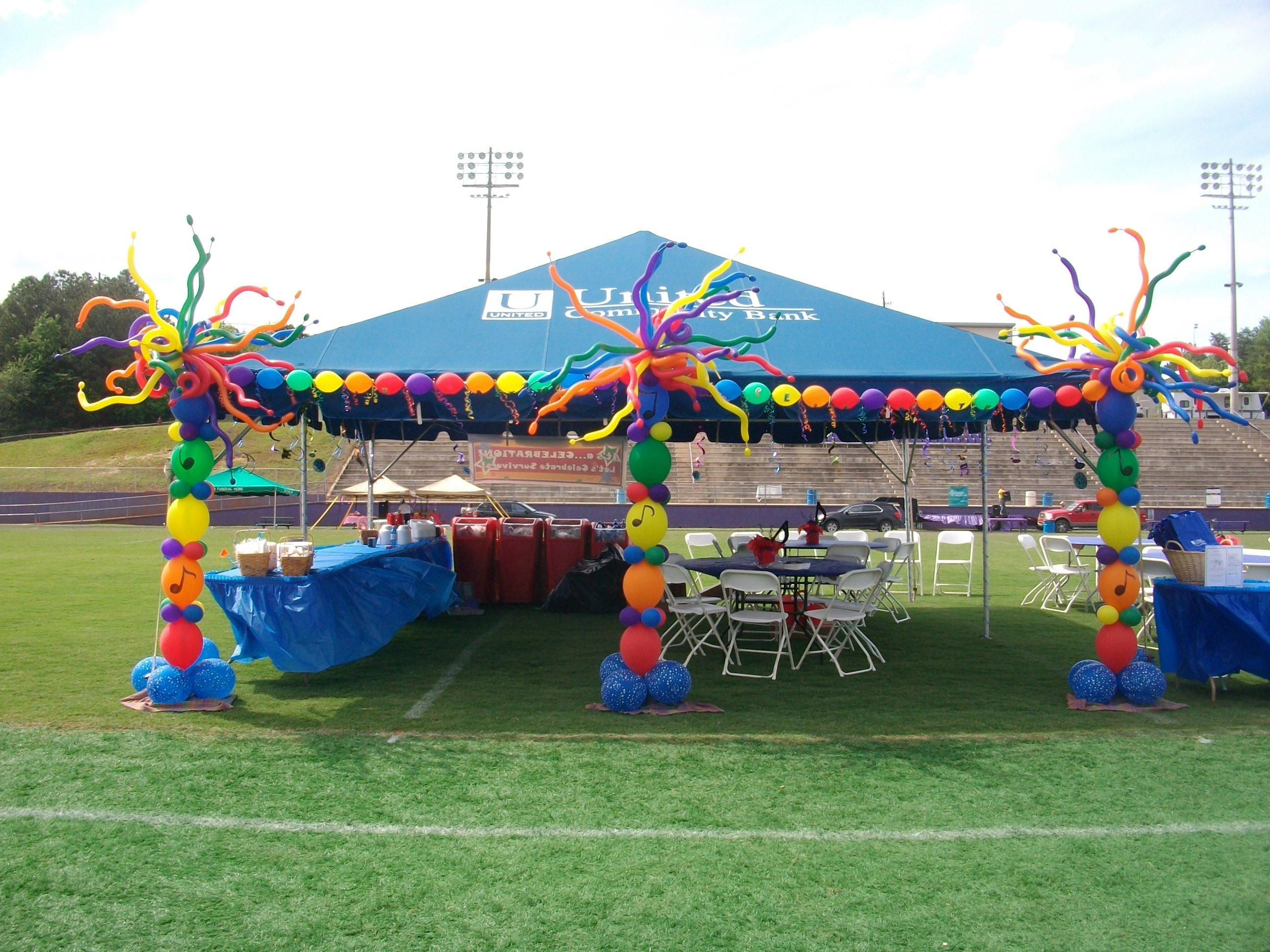 10 Perfect Relay For Life Booth Ideas ucbi tent decor for 2012 relay for life a nancyfangles balloon 2021