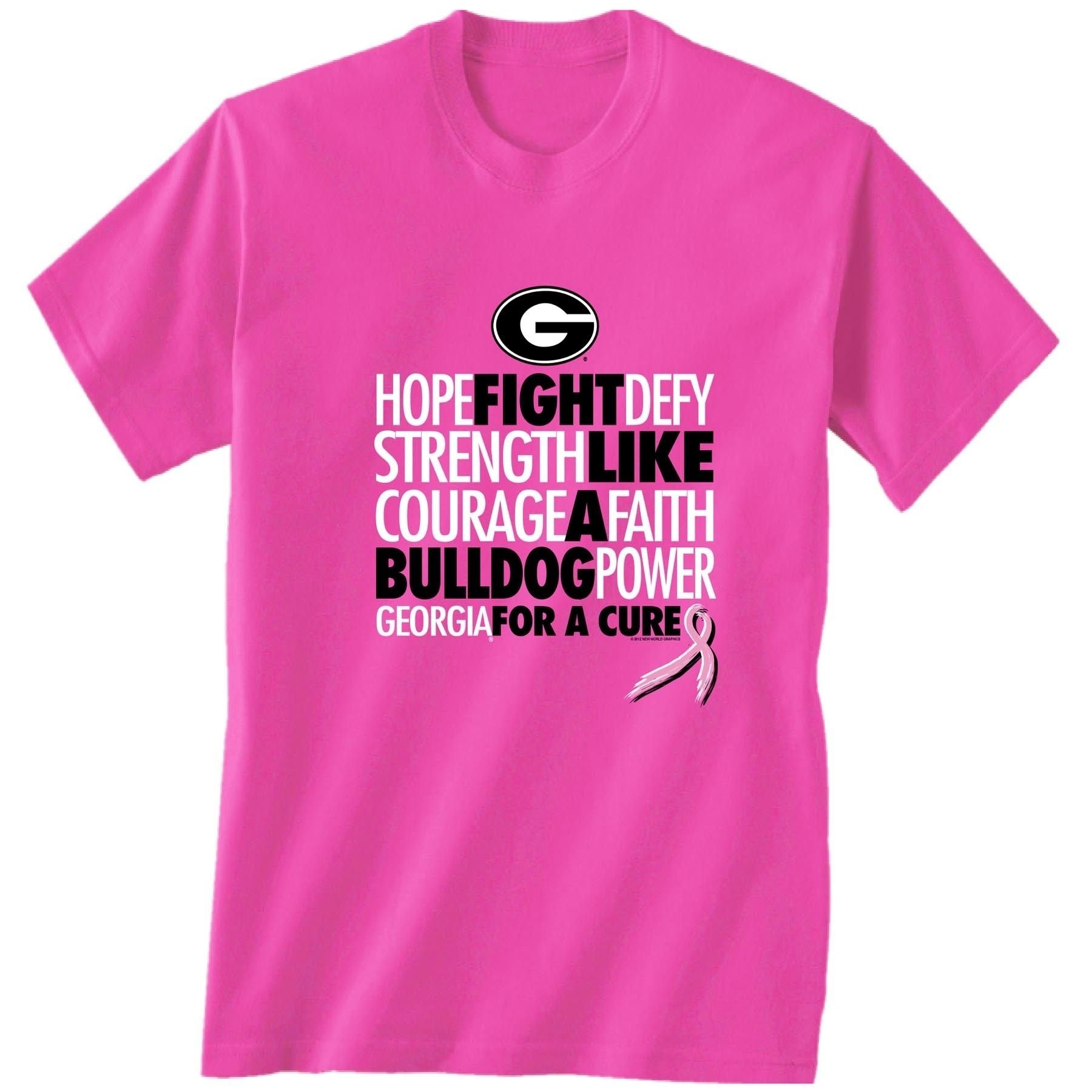 10 Attractive Breast Cancer T Shirt Ideas uga breast cancer t shirt 19 99 30 is flirty pinterest 2020