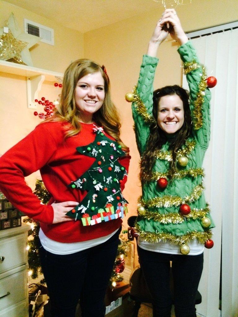 10 Stunning Ugly Christmas Sweater Ideas Homemade ugly christmas sweater diys popsugar smart living 1
