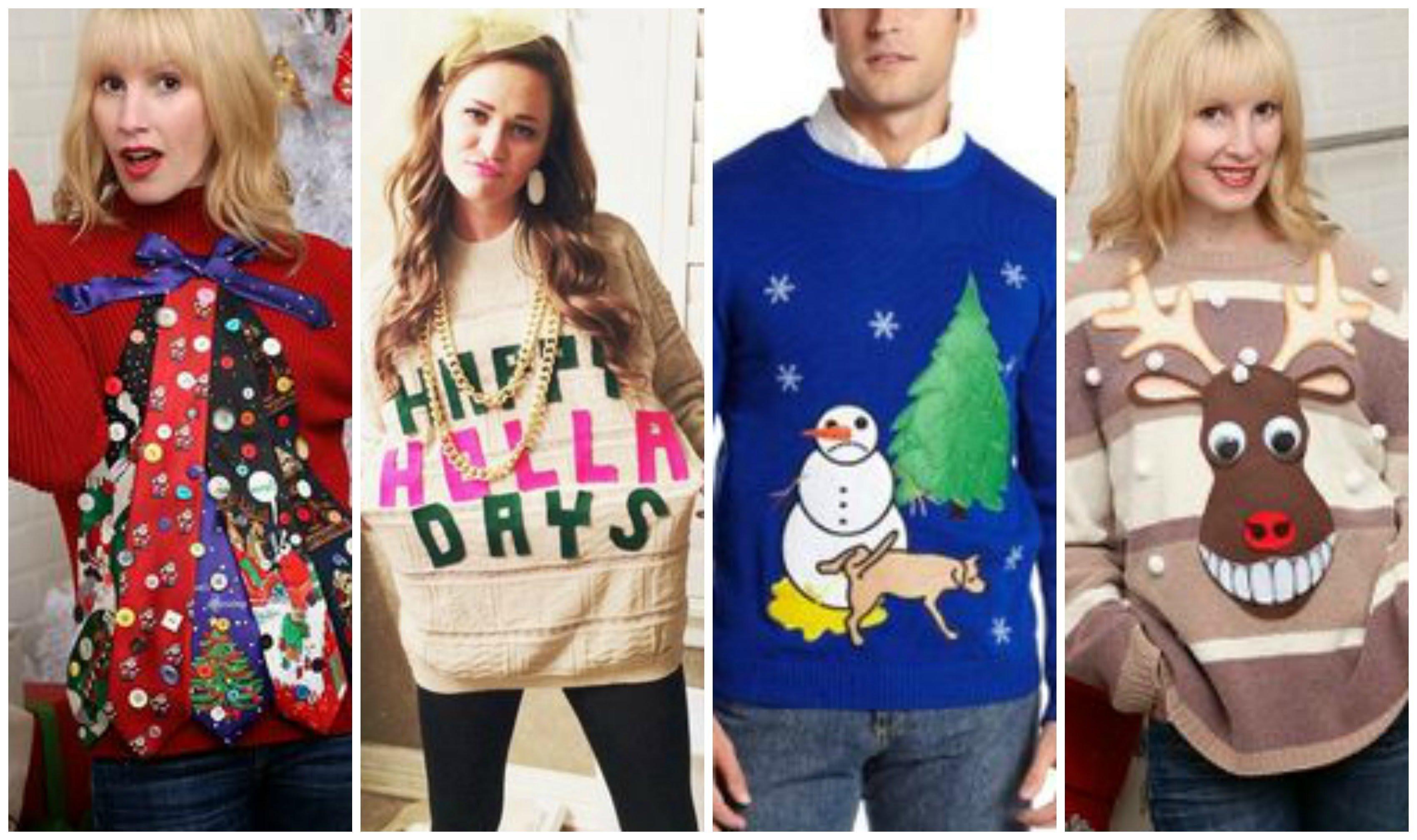 10 Stylish Ugly Christmas Sweaters Ideas Homemade ugly christmas sweater ideas lookbook youtube 1 2021