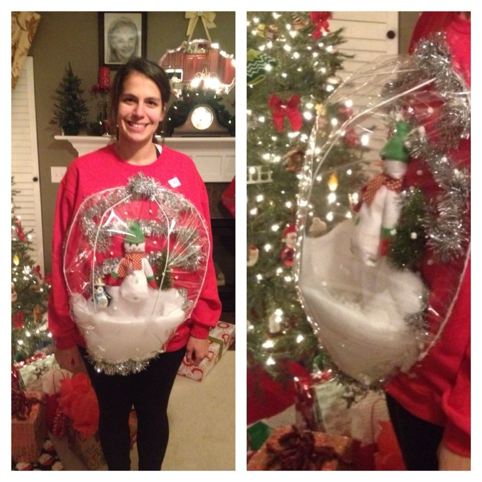 10 Fantastic Do It Yourself Ugly Christmas Sweater Ideas ugly christmas sweater party snow globe ugly christmas sweaters 2020