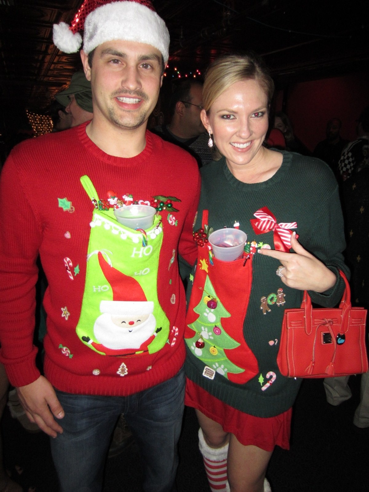 10 Awesome Ugly Christmas Sweater Ideas For Couples ugly christmas sweaters that hold beers ugly xmas sweater ideas 1 2020
