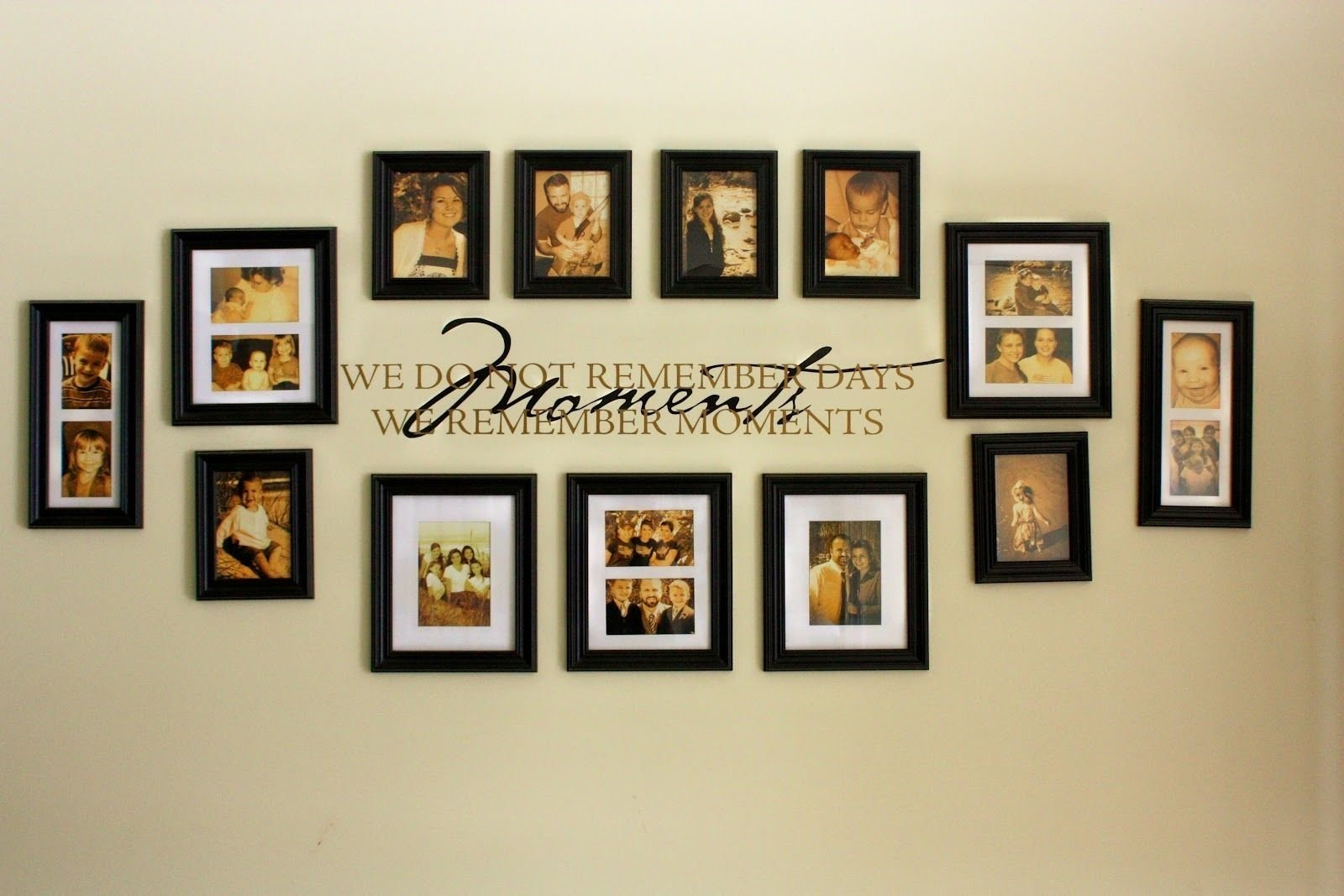 10 Most Popular Picture Frame Collage Ideas For Wall unbelievable black frame wall collage ideas u decorating pics of 2020