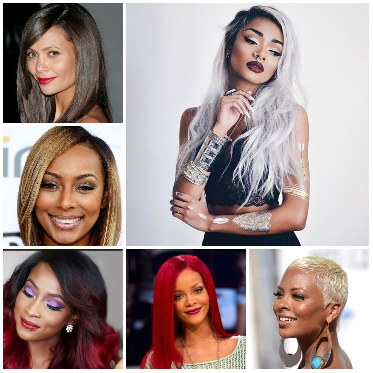 unbelievable trendy hair color ideas for black women haircuts pic of