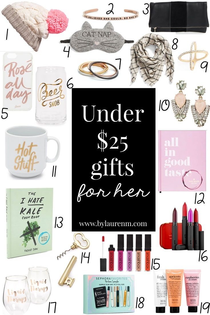 10 spectacular christmas gift ideas for women under 25 under 25 gifts for her by lauren - Best Christmas Gifts Under 25