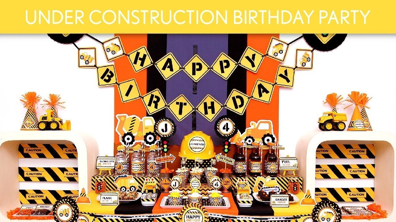 under construction birthday party ideas // under construction - b109