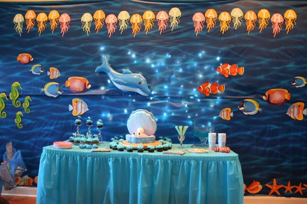 10 Fabulous Under The Sea Party Decoration Ideas under sea birthday party chica home art decor 52018 1 2021
