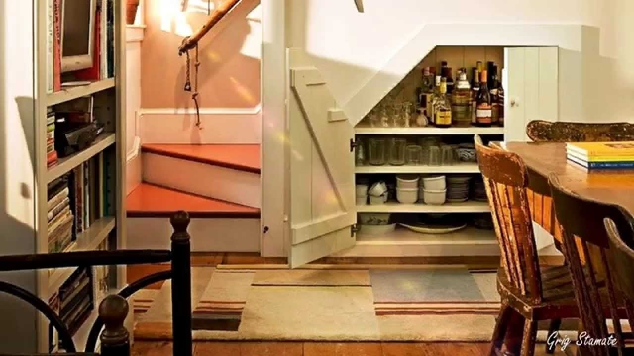10 Famous Staircase Ideas For Small Spaces under stairs storage smart small space ideas youtube 2020