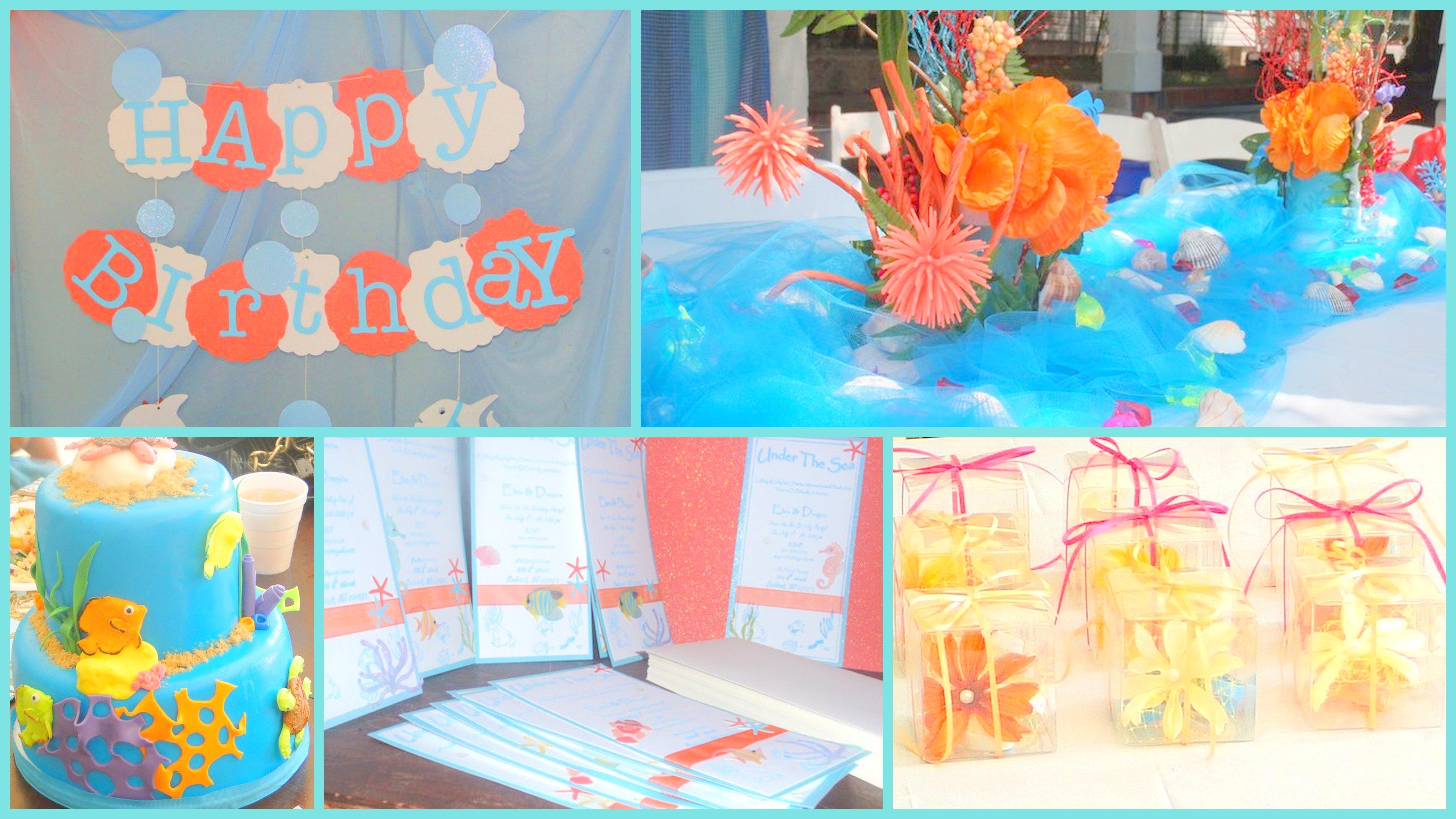 10 Stunning Under The Sea Birthday Party Ideas under the sea birthday party theme estrellitamama 2021