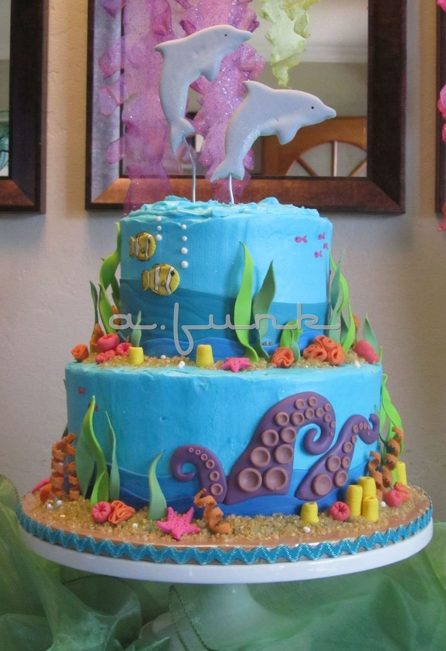 10 Nice Under The Sea Cake Ideas under the sea cake cakecentral 2021