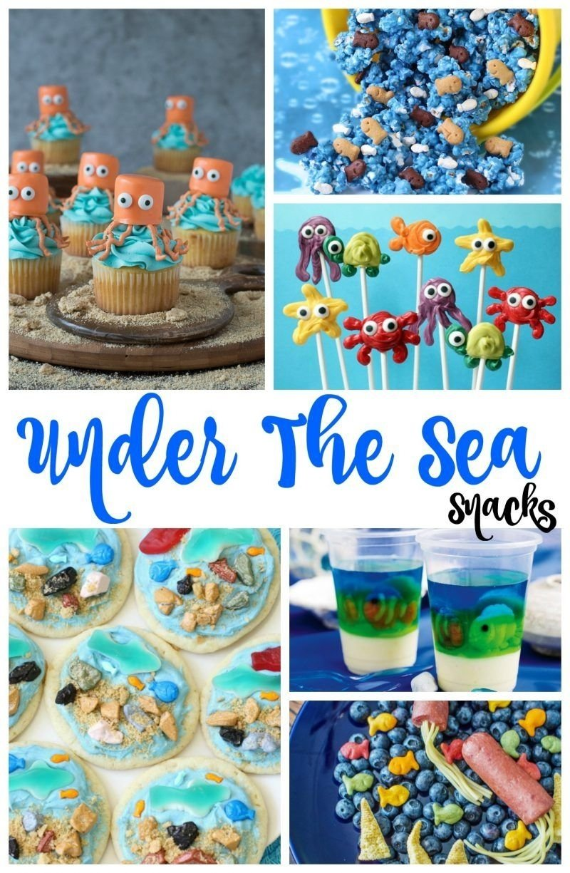 under the sea snacks - perfect theme party ideas | ocean themed food