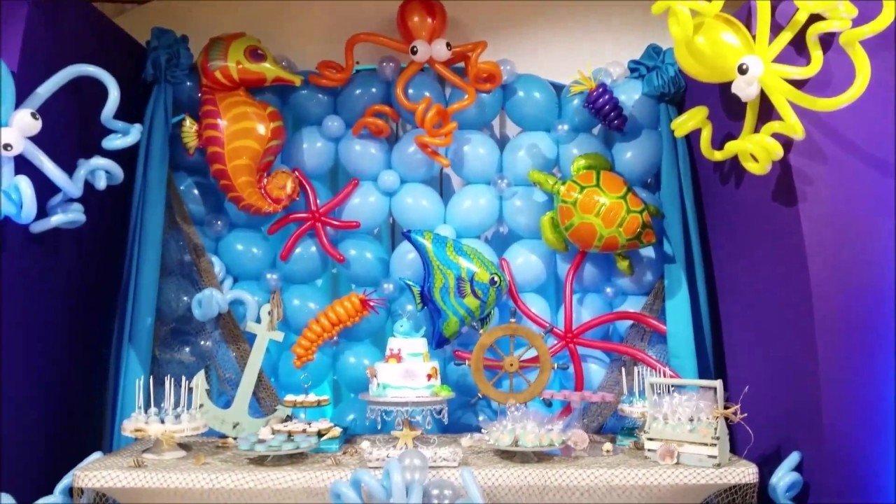 10 Fabulous Under The Sea Party Decoration Ideas under the sea theme party decor youtube 2021