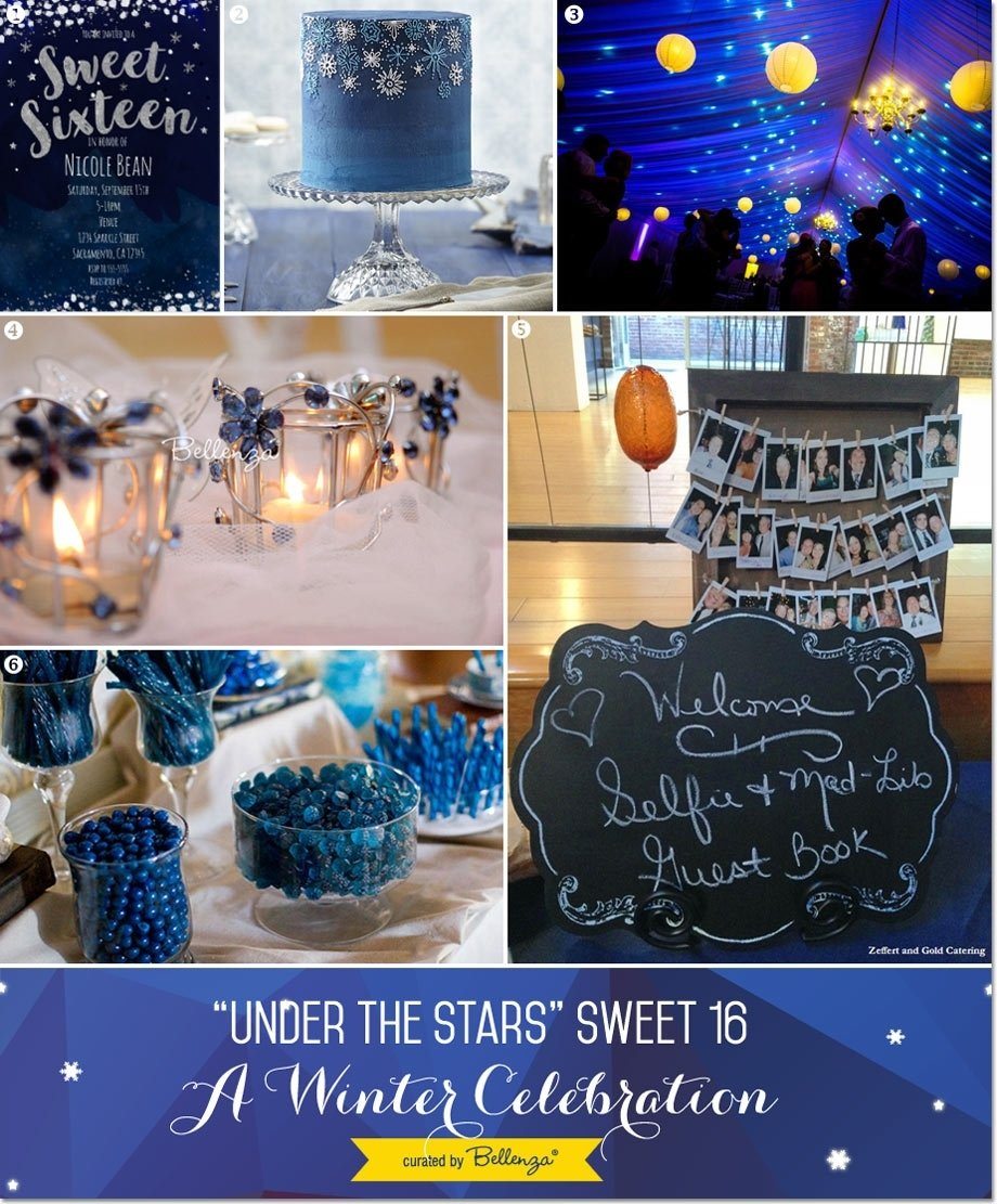 10 Cute Sweet 16 Ideas For Winter under the stars sweet 16 winter party theme 2020