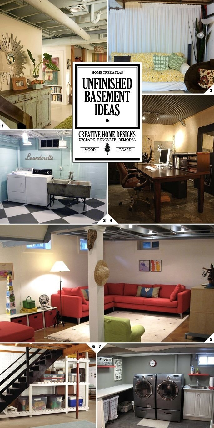 10 Fantastic Basement Ideas On A Budget unfinished basement ideas for making the space look and feel good 2020