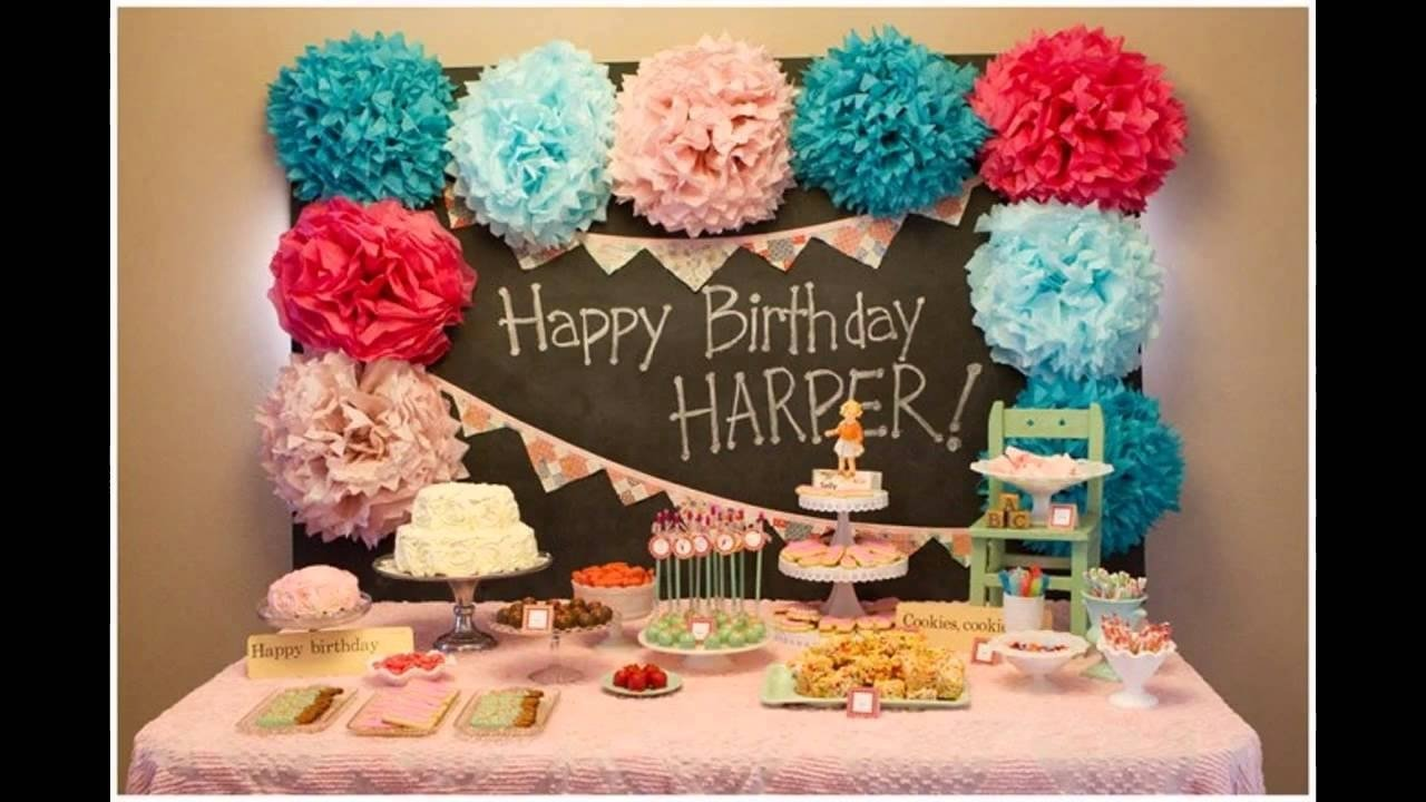 unique 1st bday party decorations ideas - youtube
