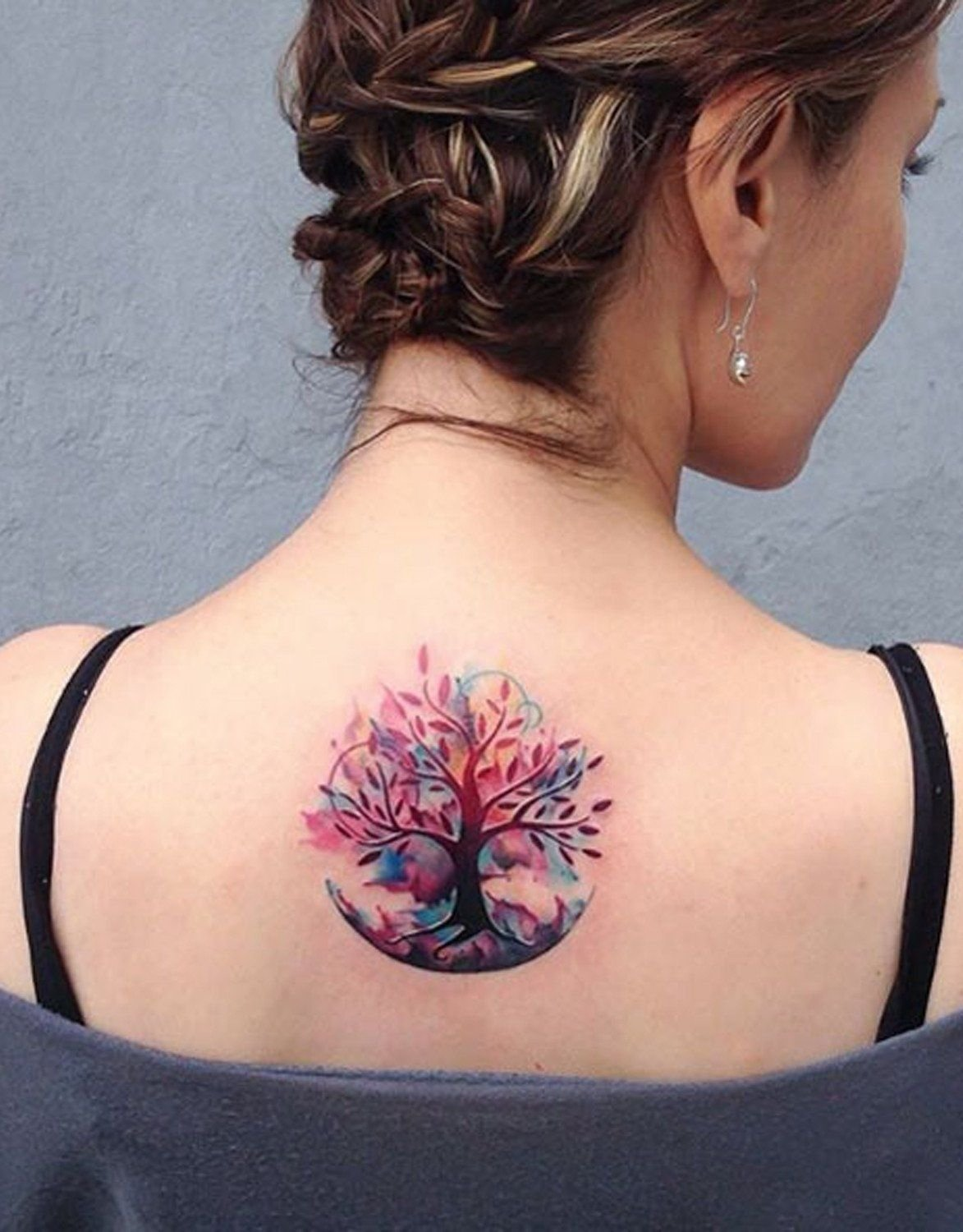 10 Great Cool Tattoo Ideas For Women unique and cool tree of life family tree watercolor back tattoo 2020