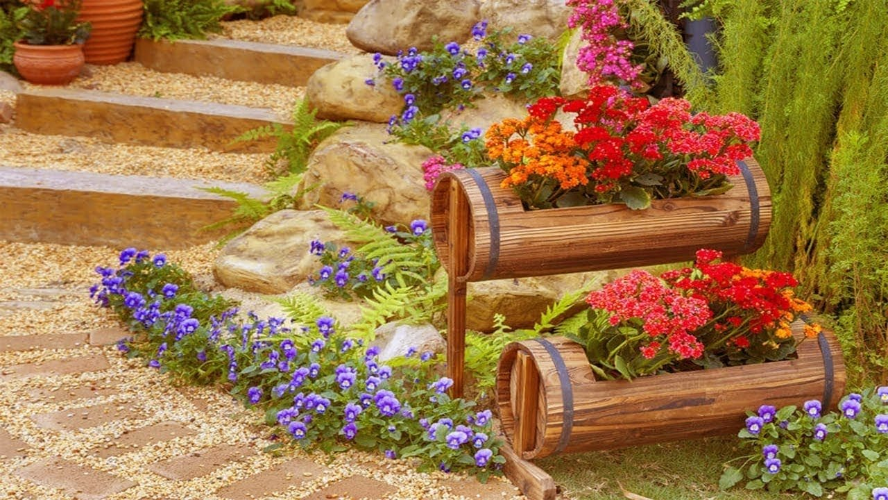 10 Nice Flower Pot Ideas For Patio unique container gardening flower planter ideas for patio outdoor 2020