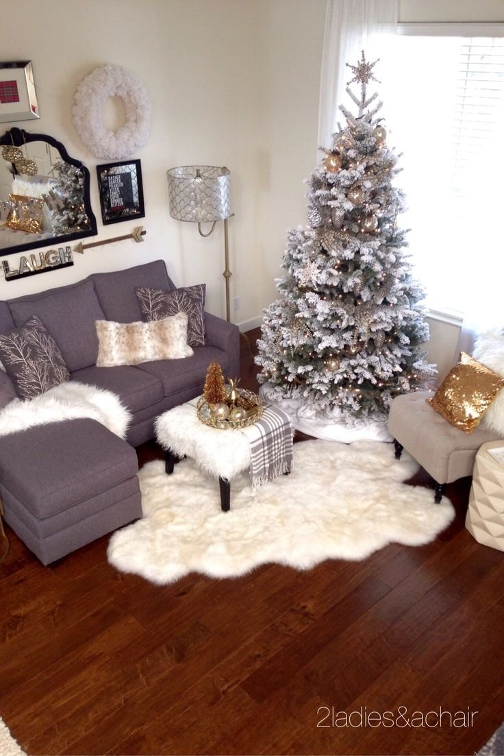 10 Lovely Christmas Decoration Ideas For Apartments unique small space apartment pretty living room design ideas 2020