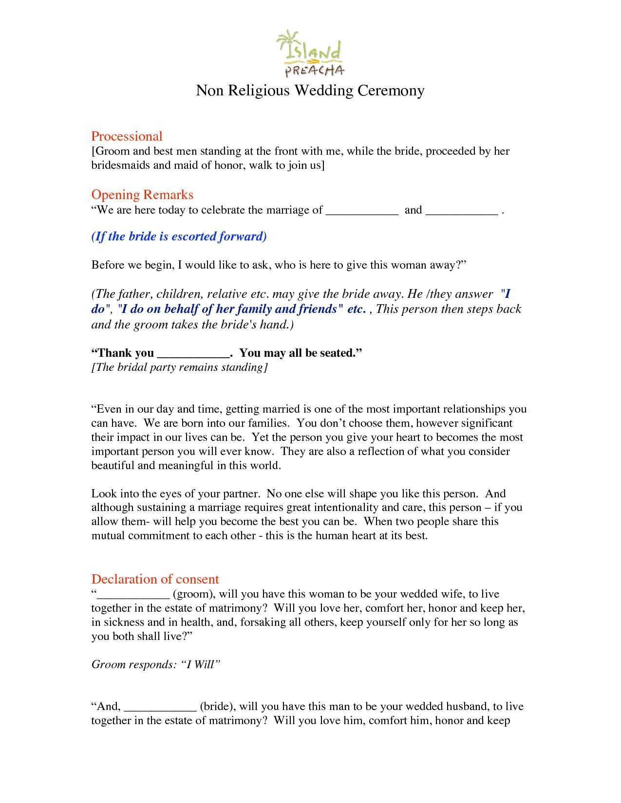 unique wedding officiant script funny | acivilamericandebate