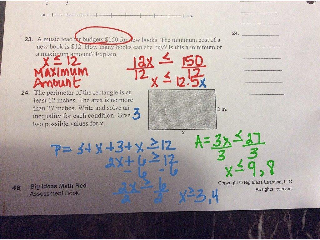 10 Stunning Big Ideas Math Red Book unit 4 study guide math showme