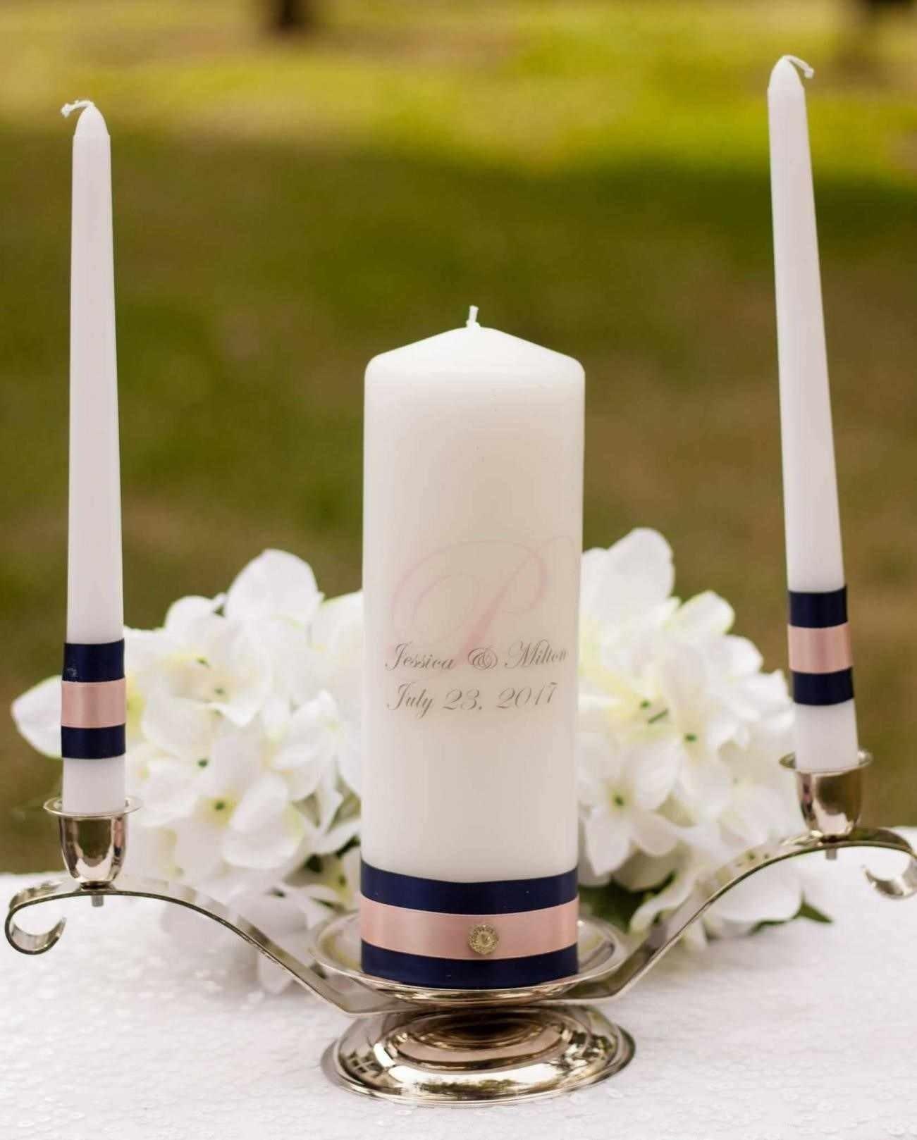 10 Stylish Wedding Ceremony Ideas Instead Of Unity Candle unity candle and blush personalized unity candle set wedding gift 2021
